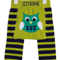 Green and Navy Owl Baby Legging