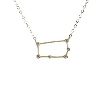 Gemini Constellation CZ Outline Necklace