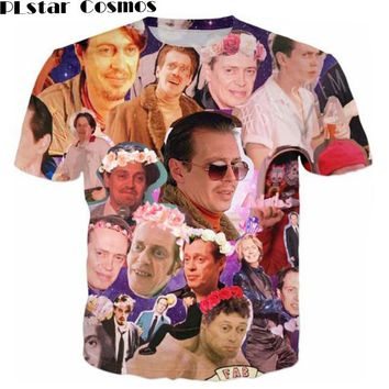 PLstar Cosmos thirts Steve Buscemi Galaxy Collage T-Shirt Outfits Jumper t shirt Women Men 3D tee Summer tshirt Fashion Clothing