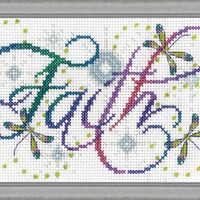 Design Works Faith Counted Cross Stitch Kit - TheAngelsNook.com