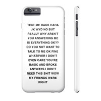 TEXT ME BACK LOL PHONE CASE