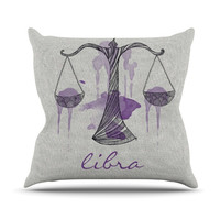 "Belinda Gillies ""Libra"" Outdoor Throw Pillow"