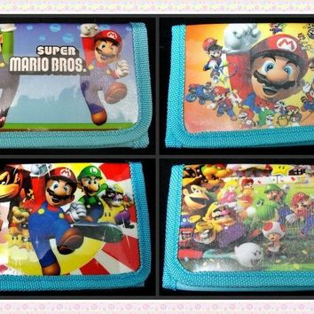 Super Mario party nes switch 12Pcs  Purses Money Bag Kawaii Bag Coin Pouch Children Purse Small Wallet Party Supplies Gift AT_80_8