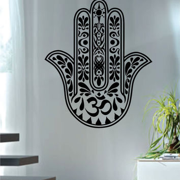 Hamsa Hand Version 11 Design Decal Sticker Wall Vinyl Decor Art