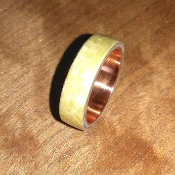 White Spruce and Copper Bentwood Ring