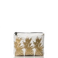 ALOHA Collection - Small Pineapple Crowns Pouch | Gold