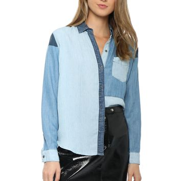 Rails Zoey Color Block Button Down