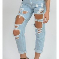 Boyfriend Ripped Jeans Denim - New Arrivals