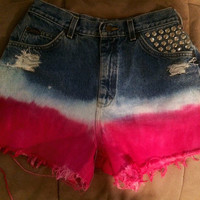 Hot Pink OmbreLee Jean Shorts