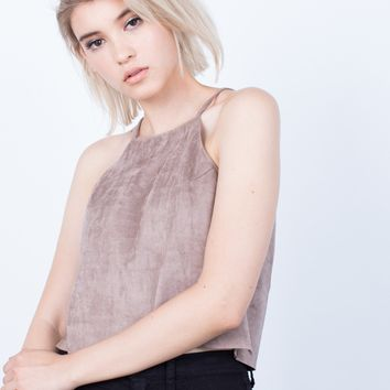 Soft Suede Cami Top