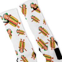 Hot Dog Filter Custom Nike Elite Socks