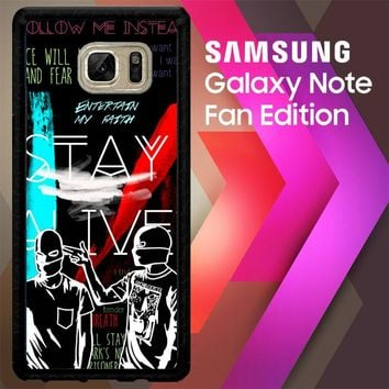Twenty One Pilots Stay Alive Z2787 Samsung Galaxy Note FE Fan Edition Case