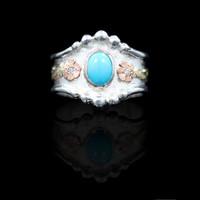 RimRock Turquoise Oyster Ring - Hyo Silver