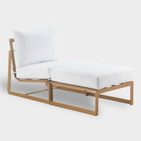 Gold Laila Outdoor Occasional Chaise Lounge
