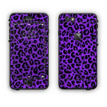 The Vibrant Violet Leopard Print Apple iPhone 6 LifeProof Nuud Case Skin Set