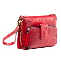 Universal Kayla Clutch - Croc Embossed Red