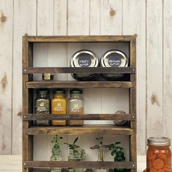 The Mansfield Cabinet No. 5 - Spice Rack / Kitchen Shelves - Wall Mount or Counter Top