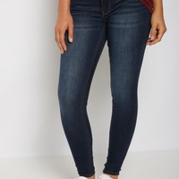 Dark Blue Sandblasted Mid Rise Jegging | Jeggings | rue21