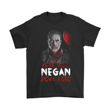 PEAPCV3 The Walking Dead We're All Negan Down Here Stephen King Shirts