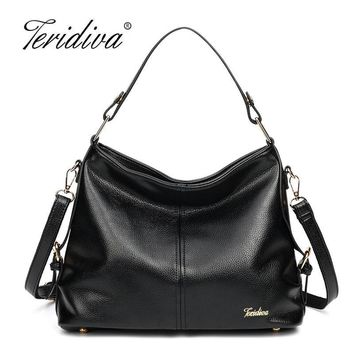Teridiva 2017 New Designer Women Handbag Female PU Leather Bags Handbags Ladies Shoulder Bag Office Ladies Hobos Bag Tote Bags