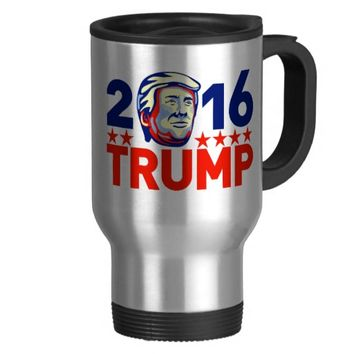 Donald Trump 2016 President Retro Travel Mug