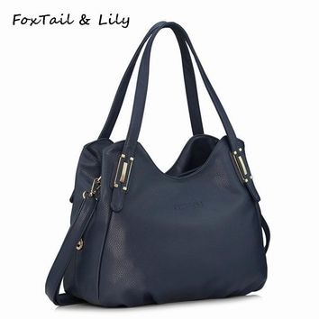 FoxTail & Lily Genuine Leather Bag for Women Luxury Brand Designer Real Leather Handbags