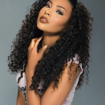 Custom Peruvian Curly 24 Inch 100% Human Hair Wig Natural Color