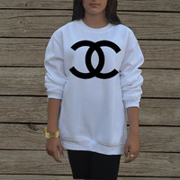 Coco Chanel sweatshirt in White and Gray Men women Replica Logo CC Channel sweater Paris Style Long sleeve Shirt chanel tshirt