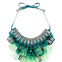 Matthew Williamson | Opulent Necklace in Teal www.FORWARDbyelysewalker.com