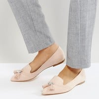 ASOS LOX Pointed Loafer Ballet Flats at asos.com