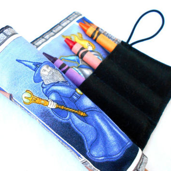 Wizard Crayon Roll - Merlin Wizards Crayon Pink Roll, 8 Crayons