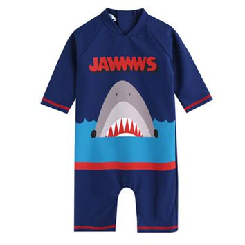Infantil Baby Boys Swimsuit One Pices Shark Pattern Swimsuit UV Prodection SPF UPF50+ Children Swimwear Swimming Clothes