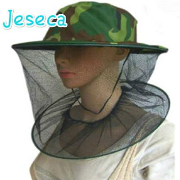 Beekeeping Mosquito Cap Women Men Midge Fly Insect Bucket Hat Field Jungle Mask Face Protect Cap Mesh Cover summer hat