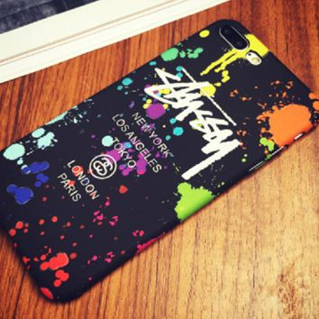 STUSSY print phone shell phone case for Iphone 6/6s/6p/7p/7/8/8p