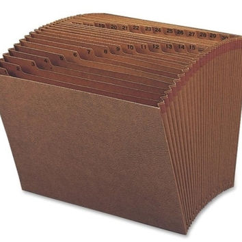 "daily expanding file, 1-31, letter, 12""x10"", brown Case of 2"