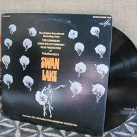 "Vintage Peter Tchaikovsky's ""Swan Lake"" Original Soundtrack from The Leningrad Kirov Ballet Company Vinyl Record Albums - 1972"