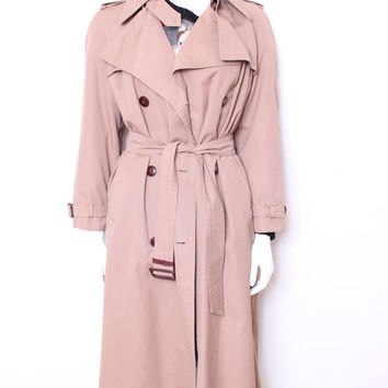 Vintage Seventies Etienne Aigner Camel Trench Coat Raincoat