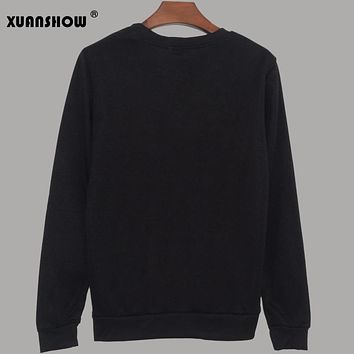 XUANSHOW New Women Sweatshirts Hip Hop Kpop Bangtan Boys Fans Clothing Women Pullovers Hoodies