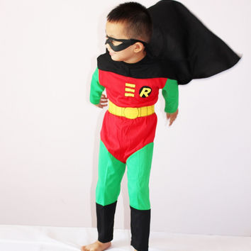 Boy Halloween Costume, Robin Costume, 3-7 Ages Kid Disfraces Carnival, Children Party Cosplay, Long Sleeve Anime Clothing Set