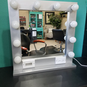 SPACE SAVER 24 x 24 Hollywood style Glamour Mirror with lights