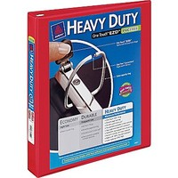 """1\"""" Avery® Heavy-Duty View Binder with One Touch™ EZD® Rings, Red   Staples®"""