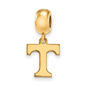 NCAA 14k Gold Plated Silver University of Tennessee Sm Dangle Charm