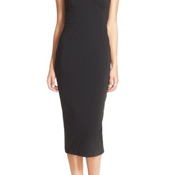 Misha Collection 'Lorenza' Stappy Neck Midi Dress | Nordstrom