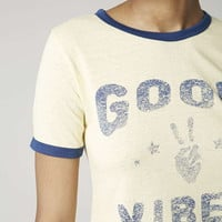 Good Vibes Cropped Tee - Topshop