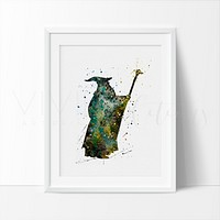 Gandalf, Lord of the Rings Watercolor Art Print