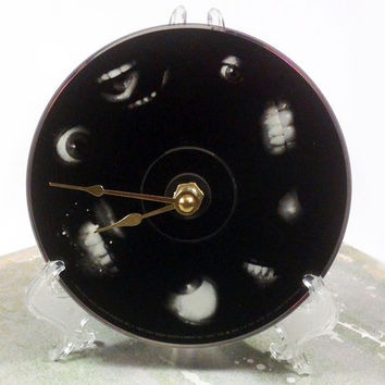 CD Clock, Desk Clock, Wall Clock, Tool, Recycled Music Compact Disc, Upcycle, Battery, Wall Hanger & Stand ALL INCLUDED