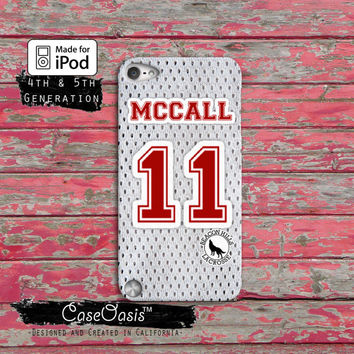 Teen Wolf Scott Mccall Lacrosse Jersey Beacon Hills Red Case iPod Touch 4th Generation or iPod Touch 5th Generation Rubber or Plastic Case