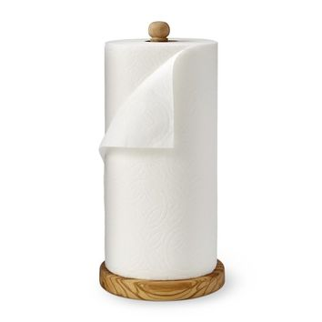 Olivewood Paper Towel Holder