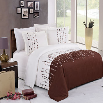 Ellis Embroidered 3-Piece Duvet Cover Set
