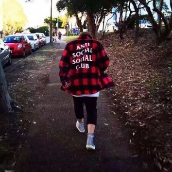 FEAR OF GOD and red tide brand plaid shirt with a shirt for men and women kanye west..